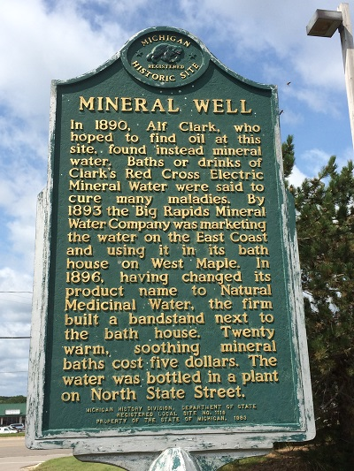 Big Rapids MineralWellSign